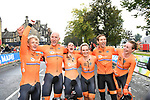 The Netherlands win the Team Time Trial Mixed Relay in Harrogate of the UCI World Championships 2019 running from Harrogate to Harrogate, England. 22nd September 2019.<br /> Picture: Simon Wilkinson/SWPix.com | Cyclefile<br /> <br /> All photos usage must carry mandatory copyright credit (© Cyclefile | Simon Wilkinson/SWPix.com)