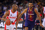 League ACB-ENDESA 2017/2018. Game: 1.<br /> FC Barcelona Lassa vs Baskonia: 87-82.<br /> Jayson Granger vs Adam Hanga.