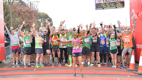 LONDON, ENGLAND - APRIL 24   Dame Kelly Holmes and London Marathon Runners at the start of the 2016 Virgin Money London Marathon on Blackheath in London, England. 24th April 2016.<br /> CAP/JWP<br /> &copy;JWP/Capital Pictures