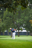 Si Woo Kim (KOR) hits his second shot on 7 during Rd3 of the 2019 BMW Championship, Medinah Golf Club, Chicago, Illinois, USA. 8/17/2019.<br /> Picture Ken Murray / Golffile.ie<br /> <br /> All photo usage must carry mandatory copyright credit (© Golffile   Ken Murray)