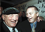 The race to succeed Paidi O'Se is on and bookmakers have installed Deputy Jackie Healy-Rae at 100-1. Jackie, pictured above with paidi after the 2000 All-Ireland victory,  is a former county hurling champion and has close ties with kilgarvan GAA club although his training skills are questionable.<br />Picture by Don MacMonagle