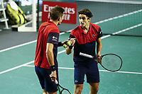 1st November 2019, AccorHotels Arena, Bercy, Paris, France; Rolex Paris Masters tennis tournament;  Nicolas Mahutand Pierre Hugues Herbert (FRA) accolade joie