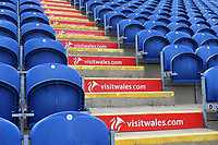 General view of Visit Wales signage amongst the seats ahead of Glamorgan vs Essex Eagles, Royal London One-Day Cup Cricket at the SSE SWALEC Stadium on 7th May 2017