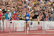 June 15th 2017, Bislett Stadion , Oslo, Norway; Diamond League Oslo Bislett Games;  Karsten Warholm of Norway competes in the men's 400m hurdles during the IAAF Diamond League held at the Bislett Stadium