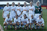 Philadelphia Charge starting lineup at Nickerson Field in Boston MA on 7/13/03 before a game between the Boston Breakers and Philadelphia Charge. The Breakers won 3-1.