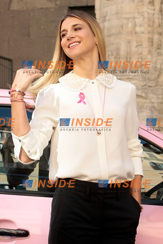 Nicoletta Romanoff madrina della campagna<br /> Roma 30-09-2014 Roma 30-09-2014 Presentazione della Campagna Nastro Rosa per la prevenzione del tumore al seno organizzata dalla LILT.<br /> Photo Samantha Zucchi Insidefoto