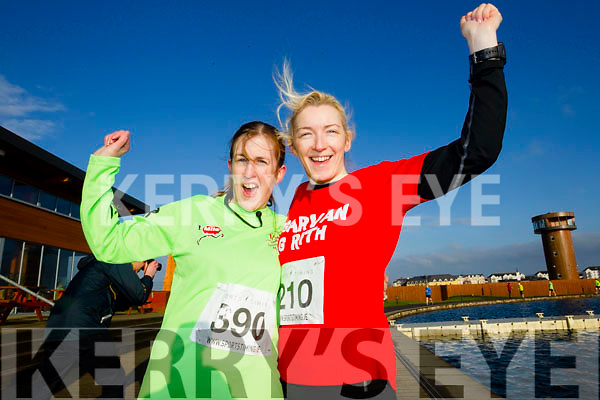 Bridget O'Sullivan and Elaine Kelleher, participants who took part in the Kerry's Eye Valentines Weekend 10 mile road race on Sunday.