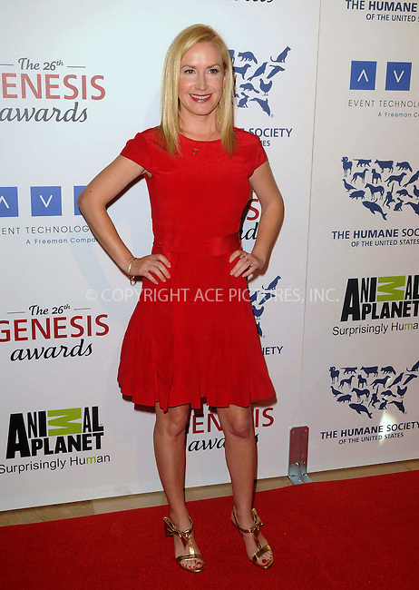 WWW.ACEPIXS.COM . . . . .  ....March 24 2012, LA....Angela Kinsey arriving at the 26th Annual Genesis Awards at The Beverly Hilton Hotel on March 24, 2012 in Beverly Hills, California. ....Please byline: PETER WEST - ACE PICTURES.... *** ***..Ace Pictures, Inc:  ..Philip Vaughan (212) 243-8787 or (646) 769 0430..e-mail: info@acepixs.com..web: http://www.acepixs.com