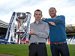 Danny Lennon and Sam Parkin after the League Cup draw