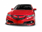 Red 2016 Acura TLX Luxury Sedan Custom Tuner Edition car isolated on white background with clipping path