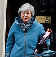 FEB 13 Theresa May leaves Downing Street