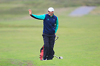 Robbie Cannon from Ireland on the 7th during Round 3 Foursomes of the Men's Home Internationals 2018 at Conwy Golf Club, Conwy, Wales on Friday 14th September 2018.<br /> Picture: Thos Caffrey / Golffile<br /> <br /> All photo usage must carry mandatory copyright credit (&copy; Golffile | Thos Caffrey)