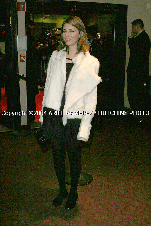©2004 ARIEL RAMEREZ / HUTCHINS PHOTO.MUSEUM OF MODERN ART'S (MOMA).A WORK IN PROGRESS: AN EVENING WITH.SOFIA COPPOLA.GRAMERCY THEATRE   NEW YORK, NY.MARCH 30, 2004