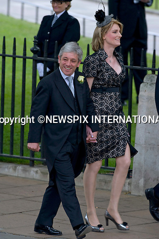 "JOHN AND SALLY BERCOW..WEDDING OF PRINCE WILLIAM AND CATHERINE MIDDLETON .Westminster Abbey,London_29/04/2011.Mandatory Photo Credit: ©Dias/Newspix International..**ALL FEES PAYABLE  TO: ""NEWSPIX INTERNATIONAL""**..PHOTO CREDIT MANDATORY!!: NEWSPIX INTERNATIONAL(Failure to credit will incur a surcharge of 100% of reproduction fees)..IMMEDIATE CONFIRMATION OF USAGE REQUIRED:.Newspix International, 31 Chinnery Hill, Bishop's Stortford, ENGLAND CM23 3PS.Tel:+441279 324672  ; Fax: +441279656877.Mobile:  0777568 1153.e-mail: info@newspixinternational.co.uk"