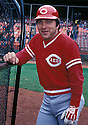 Cincinnati Reds Johnny Bench (5) in action during a game from his  career. Johnny Bench played for 17 seasons, all with the Cincinnati Reds. Johnny Bench was a 14 -time All-Star, 2-time National League MVP and was inducted to the Baseball Hall of Fame in 1989.(David Durochik/SportPics)(David Durochik/SportPics)