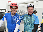 Gerry Smith and Jim Gorman who took part in the Ras Cabhru cycle in aid of Drogheda Homeless Aid. Photo:Colin Bell/pressphotos.ie