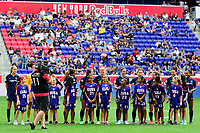 HARRISON, NJ - SEPTEMBER 29: Sky Blue FC during a game between Orlando Pride and Sky Blue FC at Red Bull Arena on September 29, 2019 in Harrison, New Jersey.
