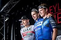 podium:<br /> <br /> 1. Alvaro Hodeg (COL/Deceuninck Quick Step)<br /> 2. Jasper Philipsen (BEL/UAE)<br /> 3. Rory Townsend (IRL/Canyon DHB P/B Bloor Home)<br /> <br /> <br /> Heistse Pijl 2019<br /> One Day Race: Turnhout > Heist-op-den-Berg 194km (UCI 1.1)<br /> ©kramon