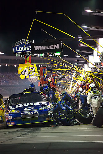 Oct 11, 2008; 8:44:05 PM;  Concord, NC, USA; Nascar Sprint Cup Series for the Bank of America 500  at Lowe's Motor Speedway. Mandatory Credit: Joey Millard