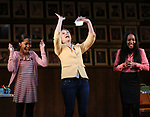 """Rosdely Ciprian, Heidi Schreck and Thursday Williams during the Broadway Opening Night Performance Curtain Call of  """"What The Constitution Means To Me"""" at the Hayes Theatre on March 31, 2019 in New York City."""