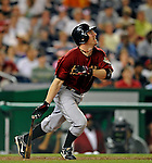 12 July 2008: Houston Astros' center fielder Darin Erstad in action against the Washington Nationals at Nationals Park in Washington, DC. The Astros defeated the Nationals 6-4 in the second game of their 3-game series...Mandatory Photo Credit: Ed Wolfstein Photo