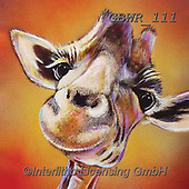 Simon, REALISTIC ANIMALS, REALISTISCHE TIERE, ANIMALES REALISTICOS, paintings+++++Card_AdamB_SmileHigh,GBWR111,#a#, EVERYDAY,giraffe
