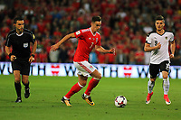 Tom Lawrence of Wales (C) in action during the FIFA World Cup Qualifier Group D match between Wales and Austria at The Cardiff City Stadium, Cardiff, Wales, UK. Saturday 02 September 2017