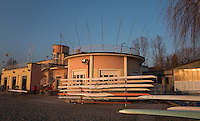 Varese. Lombardia. ITALY. General View.  Sun Set, Crewsreturning from afternoon Training on Lake/Lago Varies. [Varese Rowing Club]. [Canottieri Varese]<br /> <br /> Tuesday  03/01/2017<br /> <br /> [Mandatory Credit; Peter Spurrier/Intersport-images]<br /> <br /> <br /> LEICA CAMERA AG - LEICA Q (Typ 116) - 1/800 - f4