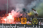 10.03.2019,  GER; 2. FBL, FC St. Pauli vs Hamburger SV ,DFL REGULATIONS PROHIBIT ANY USE OF PHOTOGRAPHS AS IMAGE SEQUENCES AND/OR QUASI-VIDEO, im Bild Feature Abbrennen von Pyrotechnik der Pauli Fans Foto © nordphoto / Witke
