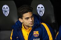 VALENCIA, SPAIN - DECEMBER 5: Bartra during BBVA LEAGUE match between Valencia C.F. and FC Barcelona at Mestalla Stadium on December 5, 2015 in Valencia, Spain