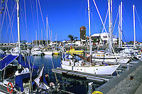 Marina, harbour at Calleta de Fuste,Fuerteventura,Canary Islands.
