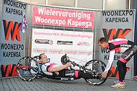 WIELRENNEN: DRACHTEN: 09-04-2015, WIELERVERENIGING WOONEXPO KAPENGA, ©foto Martin de Jong