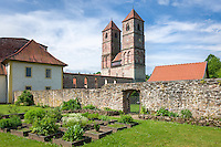Germany, Thuringia, Kloster Vessra: Abbey Vessra and open-air-museum, ruins of monastery church St Mary | Deutschland, Thueringen, Kloster Vessra: Klosteranlage und Freilichtmuseum, Ruine der Klosterkirche St. Marien