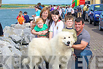 ....PET: The walsh family with their Pyreenees Mountain Dog at the Fenit REgatta in aid of the RNLI, l-r: Helen Greensmyth, Kieran Greensmyth, Amy,Dylan and John Walsh with Buster the Pyreenees Mountain Dog...... ..