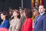 (L to R) Carmen Calvo, Dolores Delgado, Maria Jesus Montero and Jose Luis Abalos during the Military parade because of the Spanish National Holiday. October 12, 2019.. (ALTERPHOTOS/ Francis Gonzalez)