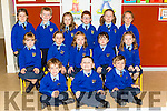 Kilmurry NS Junior infants on their first day at school on Tuesday front l-r: Cillian murphy, Jack Stack, Adain o'Connor. Middle row: Ava Hickey, Brid McCarthy, Órlaith Murphy, Niamh Keane, Róisin O'Donoghue, Back row: Katelyn Murphy, Conor O'Donoghue, Sarah Lenihan, Nathan Moroney, Anna Kelliher and Elizabeth O'Mahony