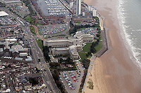 Pictured: Civic Centre building and, Oystermouth Road and Swansea Marina, Meridian Quay block of flats. 16 September 2011<br />