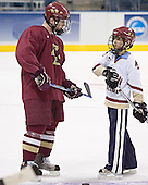 Chris Collins, Jacob Paluch - The Boston College Eagles practiced at the Bradley Center in Milwaukee, Wisconsin, on April 7, 2006 in preparation for the 2006 Frozen Four Final game vs. the University of Wisconsin on April 8, 2006.