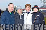 POINT TO POINT: Enjoying a great time at the North Kerry Harries point to point races at the Ballybeggan racecourse, Tralee on Sunday l-r: Adrain Curran, Robyn and Anne O'Sullivan and Lorraine Curran.