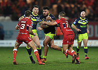 Picture by Anna Gowthorpe/SWpix.com - 02/02/2018 - Rugby League - Betfred Super League - Hull KR v Wakefield Trinity - KC Lightstream Stadium, Hull, England - Wakefield Trinity's David Fifita runs at the Hull KR defence