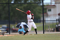 Axel Melendez (24) of EEBMCM High School in Cidra, Puerto Rico during the Under Armour Baseball Factory National Showcase, Florida, presented by Baseball Factory on June 12, 2018 the Joe DiMaggio Sports Complex in Clearwater, Florida.  (Nathan Ray/Four Seam Images)