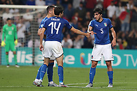 Federico Chiesa of Italy \celebrates with team mate after scoring a goal <br /> Reggio Emilia 22-06-2019 Stadio Città del Tricolore <br /> Football UEFA Under 21 Championship Italy 2019<br /> Group Stage - Final Tournament Group A<br /> Belgium - Italy<br /> Photo Cesare Purini / Insidefoto