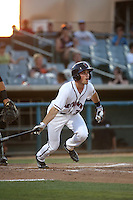 Bobby Boyd (3) of the Lancaster JetHawks bats against the Modesto Nuts at The Hanger on June 7, 2016 in Lancaster, California. Lancaster defeated Modesto, 3-2. (Larry Goren/Four Seam Images)