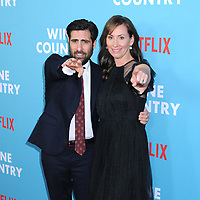 "Jason Schwartzman and Liz Cackowski at the World Premiere of ""WINE COUNTRY"" at the Paris Theater in New York, New York , USA, 08 May 2019"