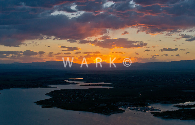 Sunset on Lake Pueblo,  June 2014. 85185