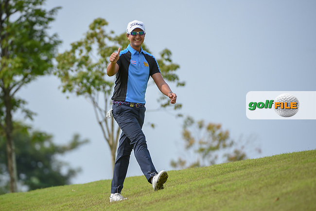 Sadom KAEWKANJANA (THA) gives a thumbs up as he approaches the tee on 6 during Rd 3 of the Asia-Pacific Amateur Championship, Sentosa Golf Club, Singapore. 10/6/2018.<br /> Picture: Golffile   Ken Murray<br /> <br /> <br /> All photo usage must carry mandatory copyright credit (© Golffile   Ken Murray)