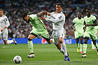Real Madrid&acute;s Portuguese forward Cristiano Ronaldo<br /> and Manchester City&acute;s defense  Nicolas Otamendi during the UEFA Champions League match between Real Madrid and Manchester City at the Santiago Bernabeu Stadium in Madrid, Wednesday, May 4, 2016. during the UEFA Champions League match between Real Madrid and Manchester City at the Santiago Bernabeu Stadium in Madrid, Wednesday, May 4, 2016.