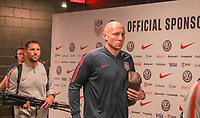 WASHINGTON D.C. - OCTOBER 11: Brad Guzan #1 of the United States walks off the team bus prior to their Nations League game versus Cuba at Audi Field, on October 11, 2019 in Washington D.C.