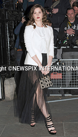 28.03.2017; London, UK: SAI BENNETT <br /> attends a fundraising gala at the National Portrait Gallery, London<br /> Mandatory Photo Credit: &copy;Francis Dias/NEWSPIX INTERNATIONAL<br /> <br /> IMMEDIATE CONFIRMATION OF USAGE REQUIRED:<br /> Newspix International, 31 Chinnery Hill, Bishop's Stortford, ENGLAND CM23 3PS<br /> Tel:+441279 324672  ; Fax: +441279656877<br /> Mobile:  07775681153<br /> e-mail: info@newspixinternational.co.uk<br /> Usage Implies Acceptance of OUr Terms &amp; Conditions<br /> Please refer to usage terms. All Fees Payable To Newspix International