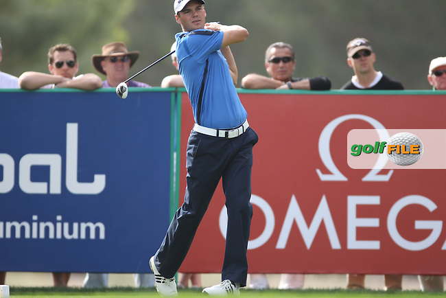 Martin Kaymer (GER) tees off on the 18th tee during Friday's Round 2 of the 2012 Omega Dubai Desert Classic at Emirates Golf Club Majlis Course, Dubai, United Arab Emirates, 10th February 2012(Photo Eoin Clarke/www.golffile.ie)